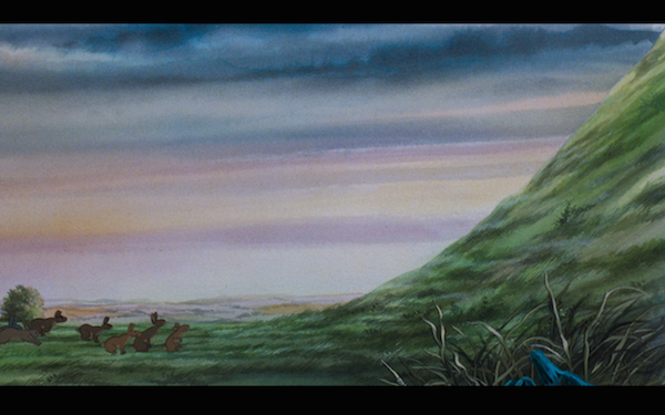 Their arrival at Watership Down.