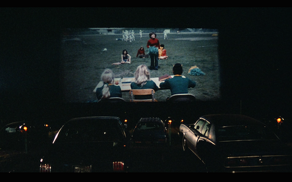 Reenactment of the drive-in.