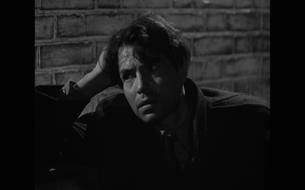 James Mason as Johnny, acting with his face.