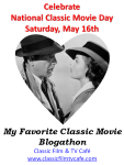 My Favorite Classic Movie Blogathon 2-2