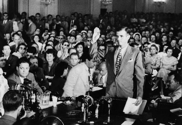 Alger Hiss Taking an Oath