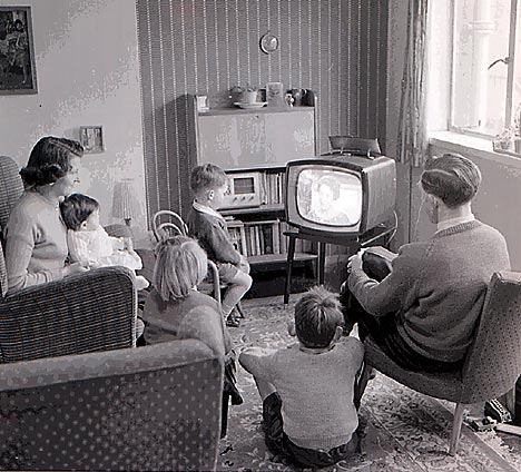 family-around-tv