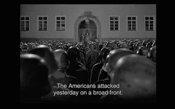 the bridge - speaking to troops